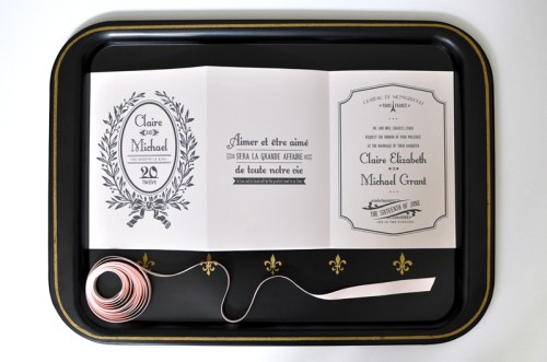Parisian Wedding Invitation Inspiration Open 500x331 Parisian Wedding Invitation Inspiration