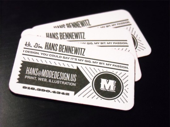 Black White Letterpress Business Cards 550x412 Business Card Ideas and Inspiration #9
