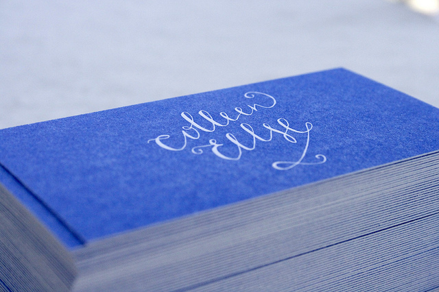 Business Card Ideas and Inspiration #8 - Letterpress Business Card