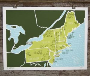Brainstorm American Atlas Poster Northeast 300x255 {today I love...}