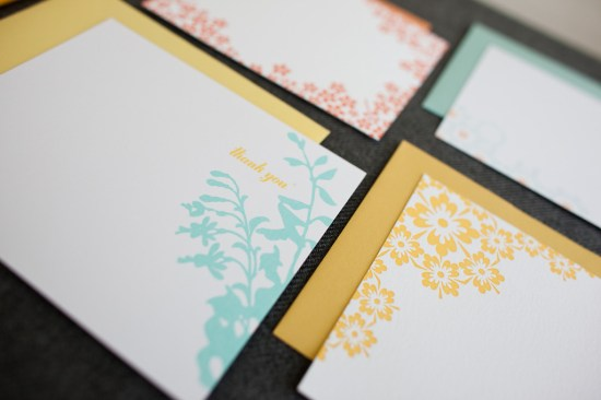 Colorful Neon Letterpress Cards Fig2 Design Studio14 550x366 Bold & Modern Stationery from Fig. 2 Design Studio