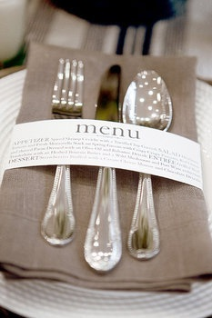 Creative wedding menu idea Wedding Details: Creative Menu Ideas