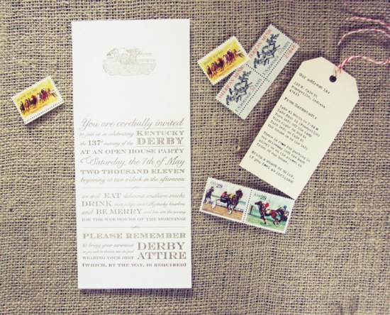 Kentucky Derby Party Invitations2 550x444 Allies Vintage Inspired Kentucky Derby Party Invitations