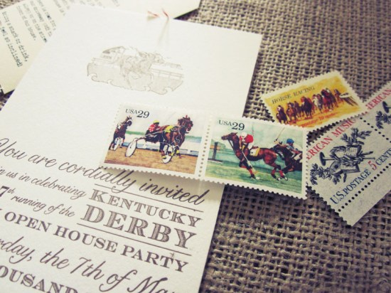 Kentucky Derby Party Invitations3 550x412 Allies Vintage Inspired Kentucky Derby Party Invitations
