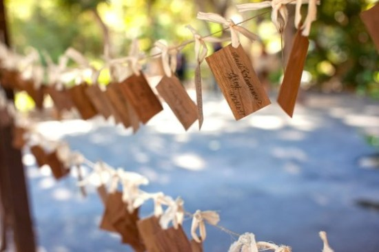 Rustic Escort Cards 550x366 Wedding Details: Escort Cards and Place Cards, Part 2
