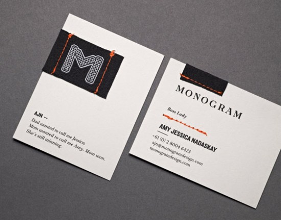 Stitched business card Business Card Ideas and Inspiration #8