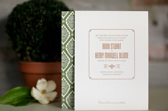 The Lettered Olive Couture Wedding Invitation Collection Woodland 550x366 The Lettered Olive   TwentyEleven Collection