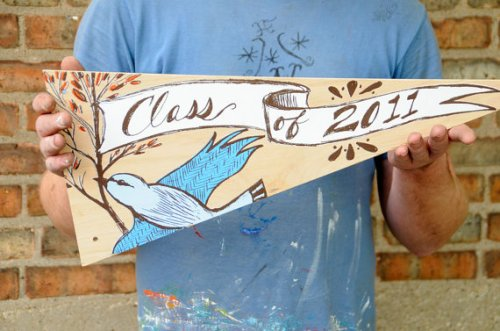 Wood Graduation Pennant 500x331 {today I love...}