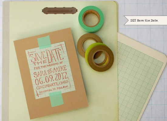 graph paper std 550x399 DIY Tutorial: Geek Chic Graph Paper Save the Dates