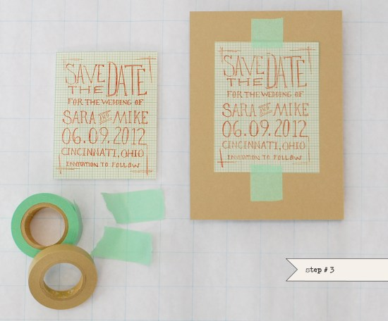step32 550x456 DIY Tutorial: Geek Chic Graph Paper Save the Dates