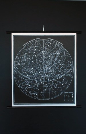 Astronomy Constellation Chart1 300x467 Paper Artwork   Black and White Astronomy Prints