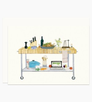 Dear Hancock Culinary Desk Stationery 300x333 Modern Illustrated Stationery from Dear Hancock