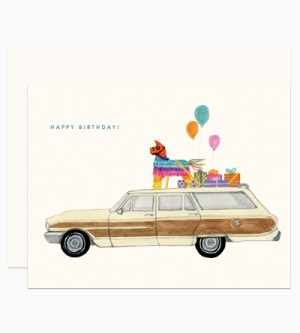 Dear Hancock Happy Birthday Party Wagon 300x333 Modern Illustrated Stationery from Dear Hancock