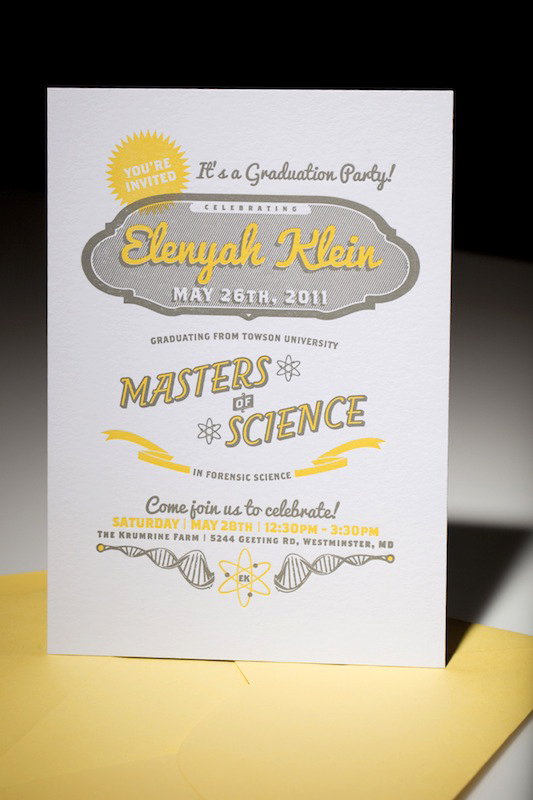 Modern Science Graduation Party Invitation - graduation party invitations