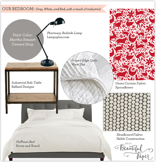 Oh So Beautiful Paper Bedroom Moodboard 600 {today I love... bedroom makeovers}