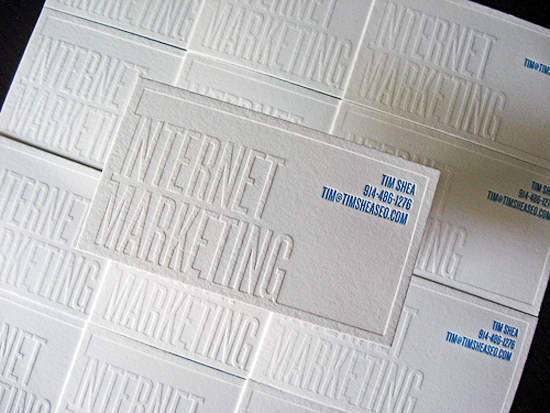 White Knockout Text Business Card Dolce Press Business Card Ideas and Inspiration #10