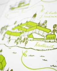 Custom Whimsical Illustrated Wedding Invitations by Bird and Banner