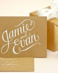 Custom Classic Calligraphy by Sugar Paper