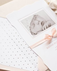 Custom Classic Letterpress Baby Announcements by Sugar Paper