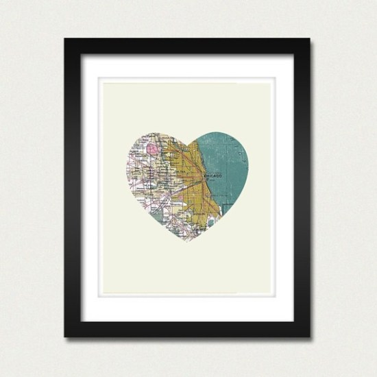 city heart map 550x550 Geographic Paper Love