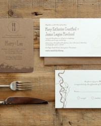 Custom Wedding Invitation by Blackbird Letterpress