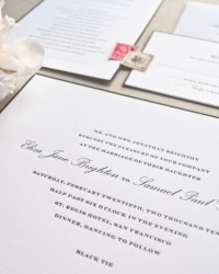 Custom Classic Letterpress Wedding Invitations by Sugar Paper