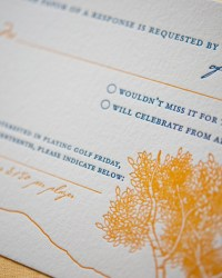Custom Non-Traditional Letterpress Wedding Invitations by Gus & Ruby Letterpress