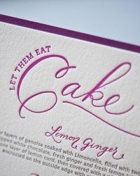 Custom Modern Letterpress Wedding Invitations by Gus & Ruby Letterpress