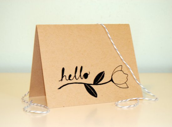 Moikka Illustrated Cards Floral Kraft Paper 550x405 Sweet + Simple Illustrated Cards from Moikka