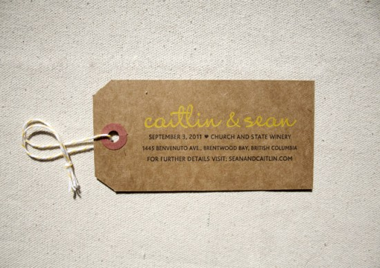Painterly Yellow Letterpress Wedding Invitations Constellation Co Tag 550x388 Caitlin + Seans Watercolor Wedding Invitations