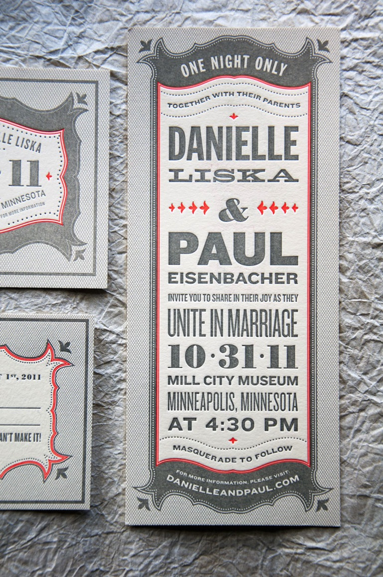 danielle pauls vintage inspired marquee halloween wedding invitations masquerade wedding invitations The