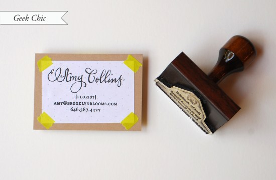 geekchic CC 550x359 DIY Tutorial: Rubber Stamp Calling Cards