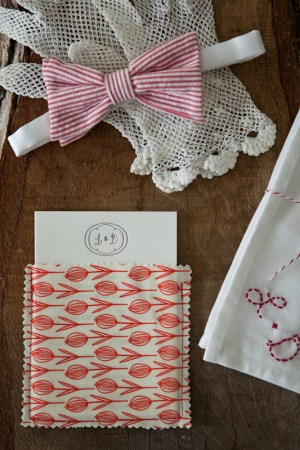 Country Elegance Fabric Pocket Wedding Invitations2 300x450 Lauren + Daniels Country Elegance Fabric Pocket Wedding Invitations