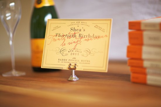 Veuve Cliquot 30th Birthday Party Invitations5 550x366 Sheas Veuve Clicquot Inspired 30th Birthday Party Invitations