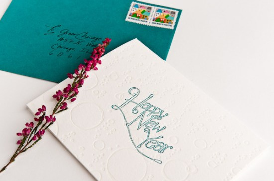 Campbell Raw Press New Year Letterpress Card 550x365 2011 Holiday Card Round Up, Part 2