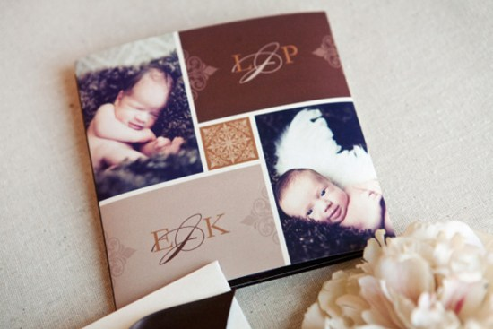 Elegant Birth Announcements for Twins3 550x367 Suzannes Elegant Baby Announcements for Twins!