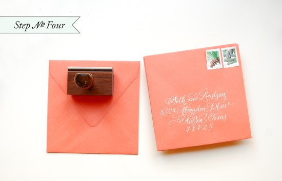 holidaystep4 550x352 DIY Tutorial: Rubber Stamp Holiday Cards