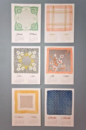 Mink Letterpress Vintage Handkerchief Calendar 300x450 2012 Calendar Round Up, Part 10