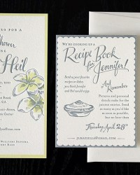 Unique Non Traditional Letterpress Bridal Shower Invitations by Ladyfingers Letterpress