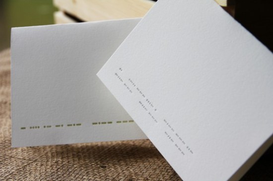 Lettuce Press Morse Code Cards 550x365 Seasonal Stationery: Valentines Day Cards, Part 2