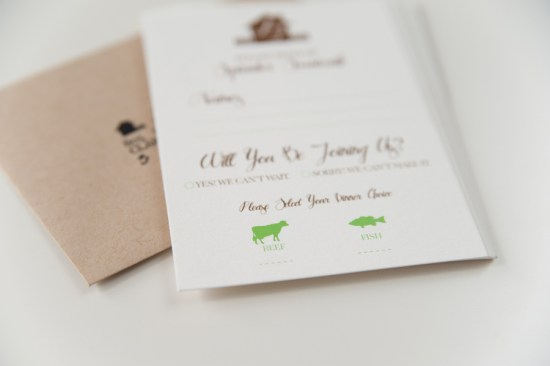 Rustic Letterpress Wedding Invitations Three Fifteen Design5 550x366 Lauren + Johns Rustic Home Letterpress Wedding Invitations