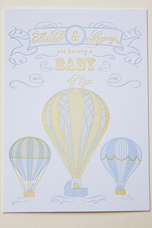 Smitten Owl Hot Air Balloon Baby Shower Invitations5 300x450 Micheles Hot Air Balloon Baby Shower Invitations