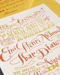 Unique Non Traditional Letterpress Baby Shower Invitations by Ladyfingers Letterpress
