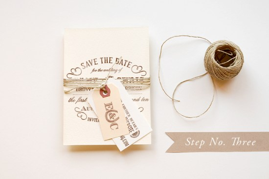 step 3 550x366 DIY Tutorial: Rubber Stamp Vintage Western Wedding Save the Dates + Invitations