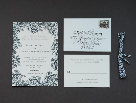 BW final 21 550x417 DIY Tutorial: Rubber Stamp Floral Wedding Invitations
