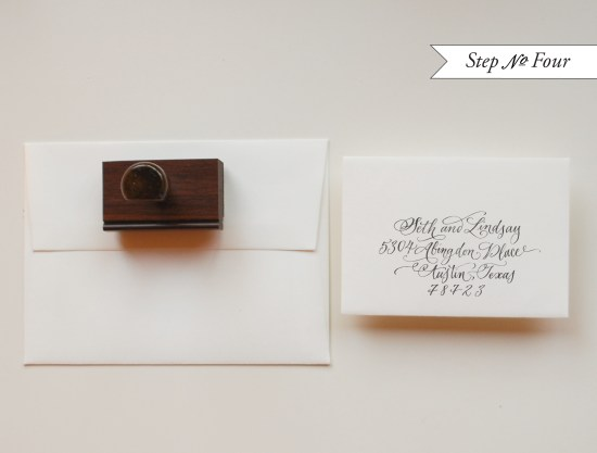 BW step4 550x417 DIY Tutorial: Rubber Stamp Floral Wedding Invitations