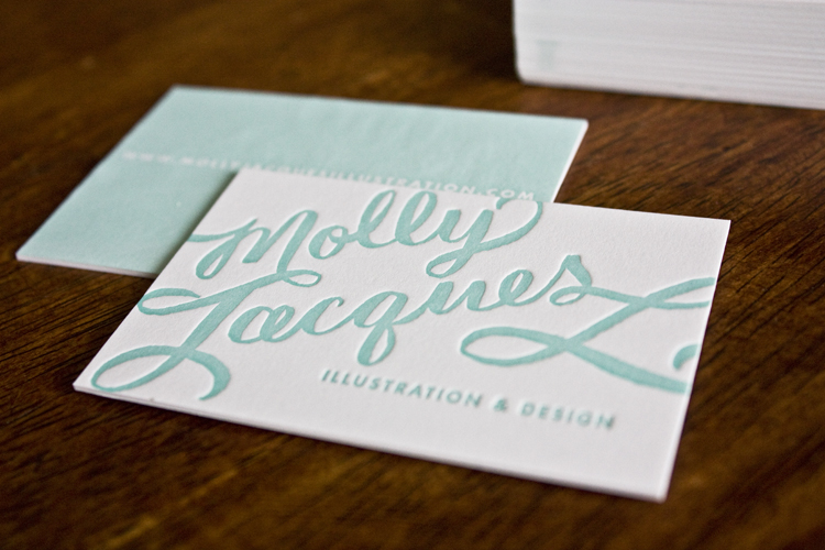 Molly Jacques Calligraphy Business Cards + Artwork