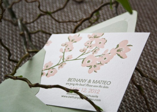Smudge Ink Wedding Invitations Floral Gwyneth 550x395 Wedding Invitations by Smudge Ink