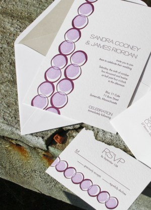 Smudge Ink Wedding Invitations Porter Circles 300x417 Wedding Invitations by Smudge Ink