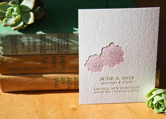 Smudge Ink Wedding Invitations Terra Save the Date 550x395 Wedding Invitations by Smudge Ink